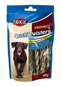 PREMIO Sushi Twisters Dried Dry Fish Skin Twist Twister Dog Chew Treat Puppy 60g