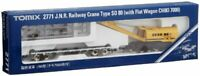 TOMIX N gauge 2771 J.N.R Railway Crane Type SO 80 with Flat Wagon CHIKI 7000 NEW