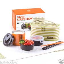 [Lock & Lock] Vivid Stainless Steel Vacuum Lunch Box Set Bento w/ Bag, Chopstics