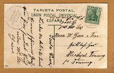 Postkarte Kaiserliche Marine Schiffspost Stempel 68 von 1908 aus Teneriffa