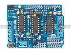 Arduino Motor / Servo Drive Shield Expansion Board L293D Mega UNO Duemilanove UK