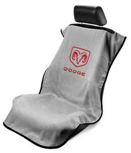 Seat Armour Front Car Seat Cover For Dodge - Grey Terry Cloth