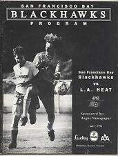 ORIG. prg EE. UU. liga-APSL 90/91 san francisco Blackhawks-los angeles heat!!!
