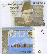 PAKISTAN 2010 5 RUPEES BANKNOTE UNC X1
