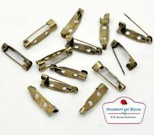 100 Basi per Spilla Bigiotteria Bronzo 20x5mm
