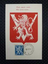 BELGIEN MK 1944 WAPPENLÖWE VICTORY MAXIMUMKARTE CARTE MAXIMUM CARD MC CM a6716