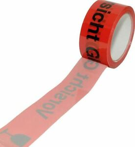 Attention Glass Packing Tape Adhesive Tape Packing Tape 66m/50mm