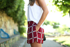 ZARA BLOGGERS! RED CHECKED SHORTS SIZE S SMALL