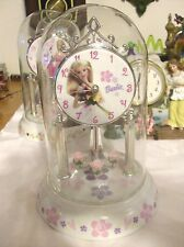 New Barbie Roses  Anniversary Clock .  New. Floor Model No Box