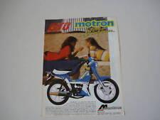 advertising Pubblicità 1987 MOTRON GTO 50