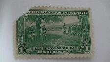 Washington At Cambridge Lexington Concord Green Vintage USA Used 1 Cent Stamp