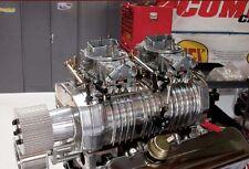 Complete B&M 300 420 Mega Blower sideways mounted dual carburetor linkage kit