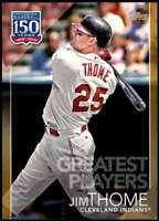 Jim Thome 2019 Topps Update 150 Years of Professional Baseball 5x7 Gold #150-49
