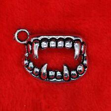 8 x Tibetan Silver Vampire Beast Teeth TWILIGHT Charm Pendant Finding Beading