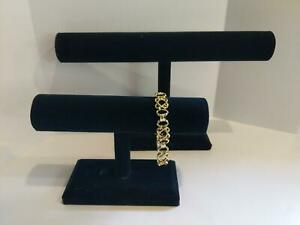 "Watches Chains  7 1//2/""W x 7/""H Black Oval Double T Bar Display for Bracelets"