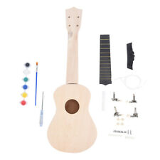 21Inch DIY Wooden Ukulele Kit Tool Handwork Support Painting Children's Toy oS