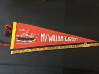 Vintage Felt Pennant MV William Carson Combine Shipping