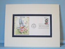 State Bird & Flower of New York - Eastern Bluebird & Rose & First Day Cover