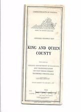 1977 King and Queen County, Virginia General Highway Map