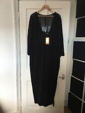 BNWT M&S Per Una Speziale Size UK 20 Black Long Sleeve Jumpsuit With Lace.  (p6)