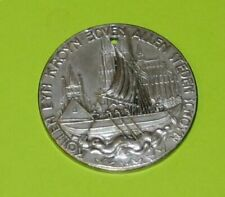 1924 KOELMESSE KOLN COLOGNE GERMANY TRADE TOKEN FAIR CATHEDRAL MEDAL BOAT HARBOR