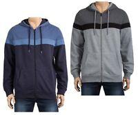 New Mens Zip Through Warm Hoodie Sweater Jumper Top Ex UK Chain Size S - XXXL