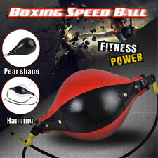 PU Leather Punching Ball Inflatable Boxing Pear Shape Exercise Speed Bag