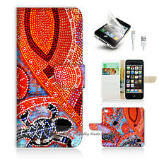 ( For iPhone 5 / 5S / SE ) Wallet Case Cover! Aboriginal Dot Art Turtle P0357