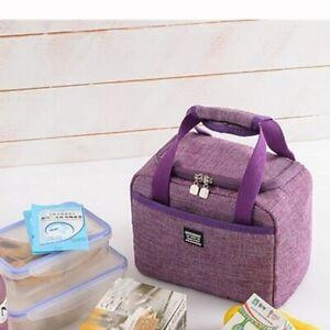 Portable Insulated lunch Bag Cooler Bag Thermal Box Handbag School Work Picnic