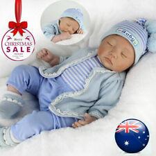 22'' Lifelike Reborn Baby Boy Doll Handmade Newborn Dolls + Clothes Xmas Gift AU