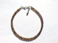 Granat farbver. facett. Armband 20-22,5 cm 925 Silber Garnet Bracelet Nr. 3719