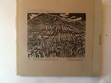 Rigby Graham wood/lino print a.p.Slievemore Achill Island v g 6 x 4.5 inches