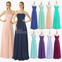 Formal Party Evening Dresses Long Chiffon Bridesmaid Dress Stock Size 8 10 12 14