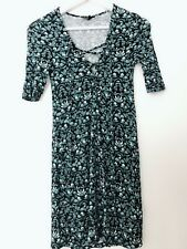 Women TOPSHOP Green Short Sleeves Summer Tunic Dress UK 6/US 2