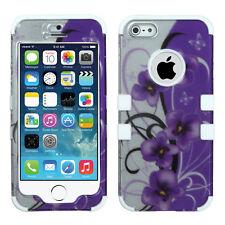 Apple iPhone 5 IMPACT TUFF HYBRID Case Skin Phone Cover 2D Twilight Pentunias