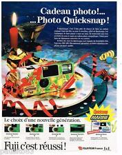 PUBLICITE ADVERTISING 0105  1991  FUJI   cadeau appareil photo QUICKSNAP MARINE