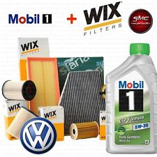 Kit tagliando olio MOBIL 1 ESP 5W30 5LT 4 FILTRI WIX VW GOLF 6 VI 1.6 TDI 77 KW