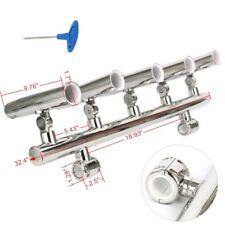 """5 Rod Holder Rocket Launcher Adjustable Rod Holder for T Top Rails 1"""" to 1-1/4"""""""