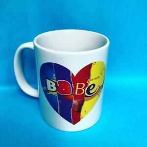 Babe Valentines Mug Printed Chocolate Heart Shape Novelty Cup Anniversary Gift