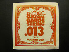 Ernie Ball Custom Guage String ,013 Made In USA Single String 1013