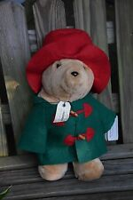 "Vintage Sears 1996 Paddington Bear Plush Stuffed Teddy 16""-Tag and Book"