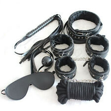 7Pcs/Set Adult Sex Toy SM Handcuffs Cuffs Strap Whip Rope Neck Cosplay Bandage