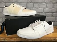 MENS BOXFRESH SPENCER CANVAS TRAINERS WHITE RRP £60 UK 7,8, 9,10