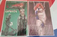 Lot of 2 DAWN Comics LUCIFER'S HALO / Crypt of Dawn 3 Listner