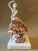 Dancing Woman Ornament on Stone Base