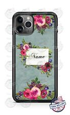 Elegant Bouquet Monogram Phone Case Cover For iPhone 11 Samsung A20 LG Google
