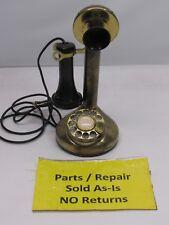 Vintage Candlestick Phone by Fold-a-Fone Brass