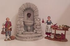 "Dollhouse Accessory Village Water Fountain Presepio Creche 5 -1/8"" H"