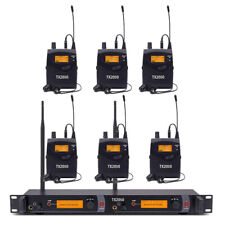 Wireless In Ear Monitor System UHF Professional Audio 6 Receiver 2*40 Channel
