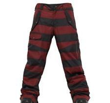 Burton Men TWC Indecent Exposure Snowboard Pants (XL) Biking Red Stripe